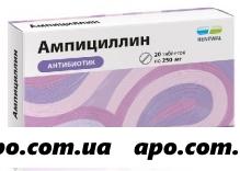 Ампициллин 0,25 n20 табл инд/уп /renewal/