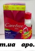 Carefree салфетки ежедн large plus n20+ гель д/интимной гигиены 200мл /алоэ/ промо