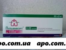 Пульмикорт 0,25мг/мл 2мл n20 конт сусп д/инг