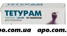 Тетурам 0,15 n50 табл /авва рус