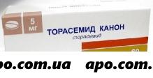 Торасемид канон 0,005 n60 табл