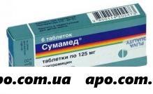 Сумамед 0,125 n6 табл п/плен/оболоч