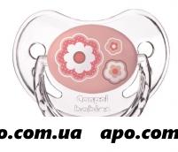 Канпол бэби соска-пустыш силик круг 0-6м newborn baby розовая