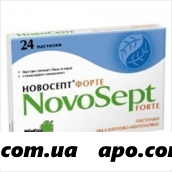Новосепт форте эвкалипт-ментол n24 пастилки