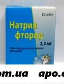Натрия фторид 0,0022 n250 табл д/рассас д/дет