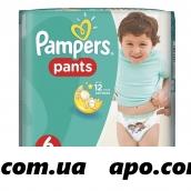 Памперс подгузники-трусики pants д/мальч и дев extra large n19