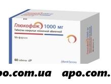 Глюкофаж 1,0 n60 табл п/плен/оболоч