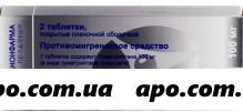 Суматриптан 0,1 n2 табл п/о