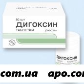 Дигоксин 0,00025 n50 табл
