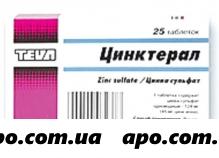 Цинктерал-тева 0,124 n25 табл п/плен/оболоч