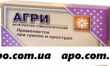 Агри(антигриппин гомеопатический) гран 20,0