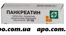Панкреатин 25ед n60 табл п/кишечнорастворим/оболоч /биосинтез/