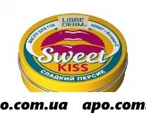 Либридерм масло д/ губ sweet kiss сладкий персик аевит+витамин с 20мл