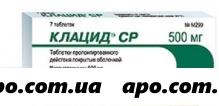 Клацид ср 0,5 n7 табл пролонг п/плен/оболоч