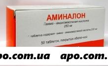 Аминалон 0,25 n50 табл п/о /органика/