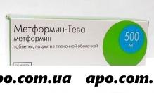 Метформин-тева 0,5 n60 табл п/плен/оболоч
