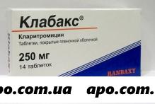 Клабакс 0,25 n14 табл п/плен/оболоч
