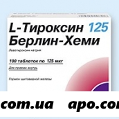 L-тироксин 125 берлин-хеми n100 табл