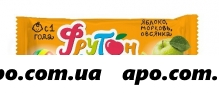 Леовит батончик фрукт фрутончик с яблоко/морковь/овсянка 20,0