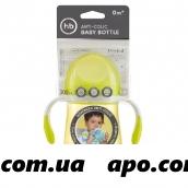 Happy baby бутылочка д/кормл с ручками и антиколик силик соской 300мл