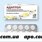 Адаптол 0,5 n20 табл