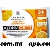 Аджисепт мед-лимон n24 табл д/рассас