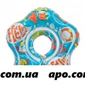Хэппи бэби круг музыкальный на шею д/плавания dolfy 3мес+