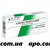 Амоксициллин 0,5 n20 табл/биохимик