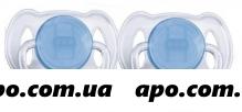 Авент соска-пустышка силик 0-2мес/мальч n2 арт. 81510 scf151/01