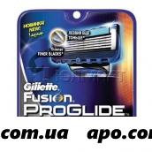 Жиллет фьюжн проглайд сменные кассеты для бритья n2