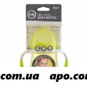 Happy baby бутылочка д/кормл с ручками и антиколик силик соской 180мл