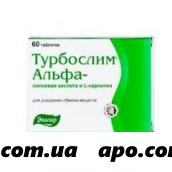 Турбослим альфа-липоевая к-та/l-карнитин n60 табл