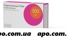 Кларитромицин-тева 0,5 n14 табл п/о