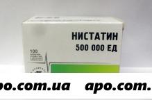 Нистатин 500000ед n100 табл п/плен/оболоч