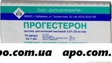 Прогестерон 0,025/мл 1мл n10 амп р-р масл д/ин