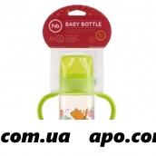 Happy baby бутылочка д/кормл с ручк и силикон соской широкое горло 250мл