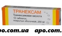 Транексам 0,25 n10 табл п/плен/оболоч