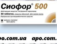 Сиофор 500 n60 табл п/о