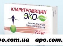 Кларитромицин экозитрин 0,25 n14 табл /п/плен/оболоч