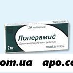 Лоперамид 0,002 n20 табл