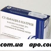 Сульфацил-натрия 20% 1,5мл n2 тюб/кап