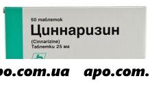 Циннаризин 0,025 n50 табл /фарма/