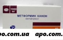 Метформин канон 1,0 n60 табл п/плен/оболоч
