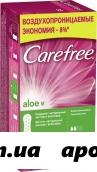 Carefree прокладки ежедн возд алоэ n32