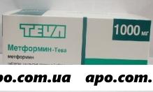 Метформин-тева 1,0 n60 табл п/плен/оболоч