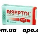 Бисептол 0,12 n20 табл
