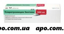 Кларитромицин зентива 0,5 n14 табл п/о