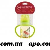 Happy baby бутылочка д/кормл с ручк и силикон соской стандарт горло 250мл