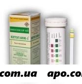 Тест-полоска кетоглюк-1 д/опр глюк/кетон в моче n50