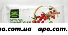 Леовит биотоника батончик тонизир орехи/ягоды годжи 30,0